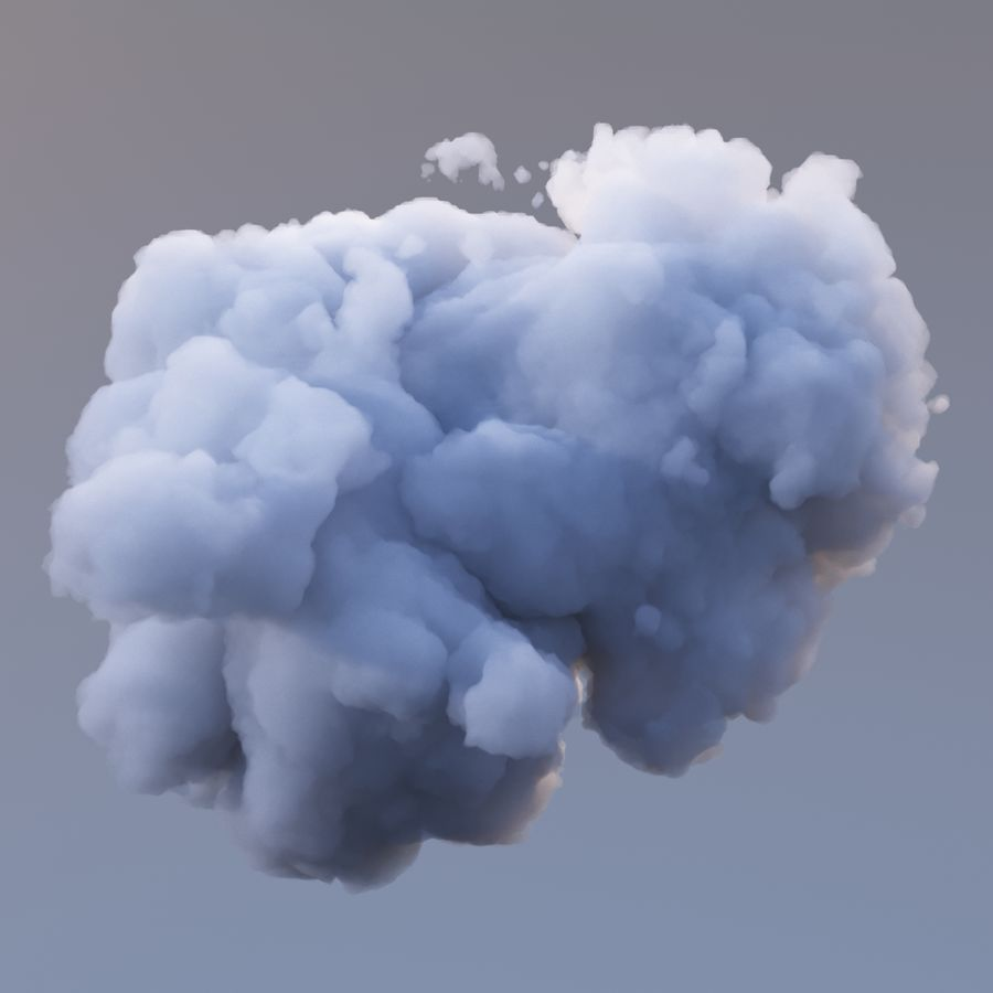 Nuage de polygone 10 royalty-free 3d model - Preview no. 2