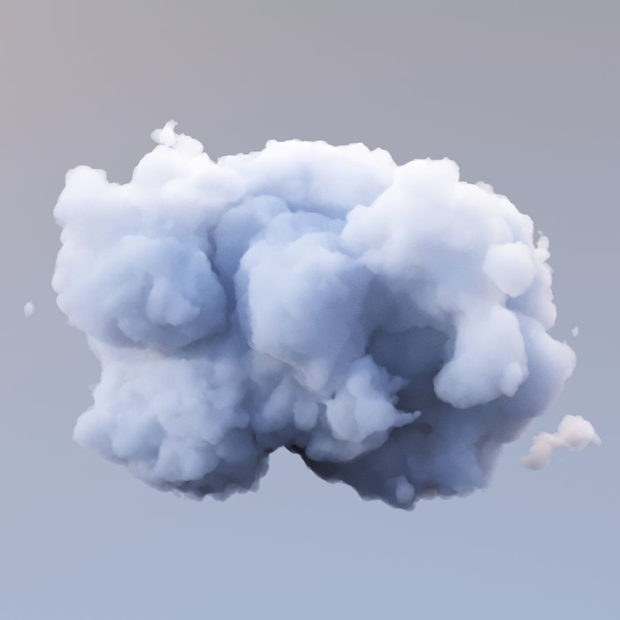 Polygon Cloud 11 royalty-free 3d model - Preview no. 3