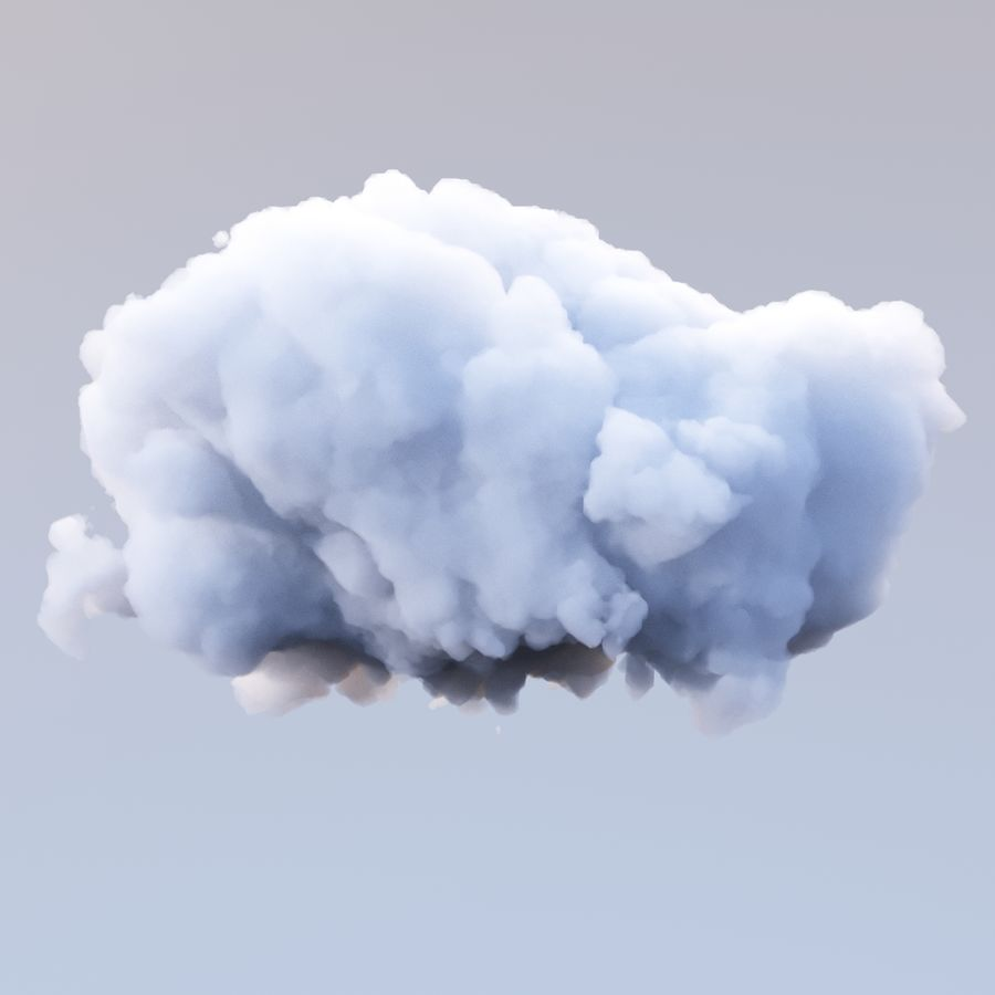 Polygon Cloud 12 royalty-free 3d model - Preview no. 3