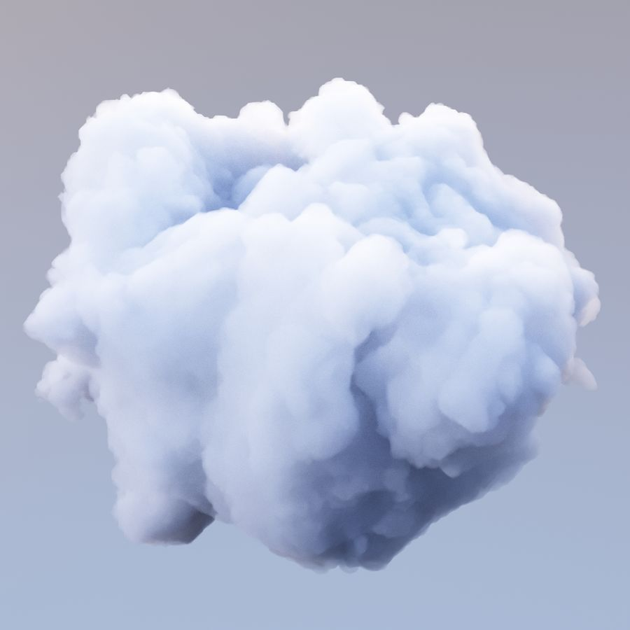 Polygon Cloud 12 royalty-free 3d model - Preview no. 4