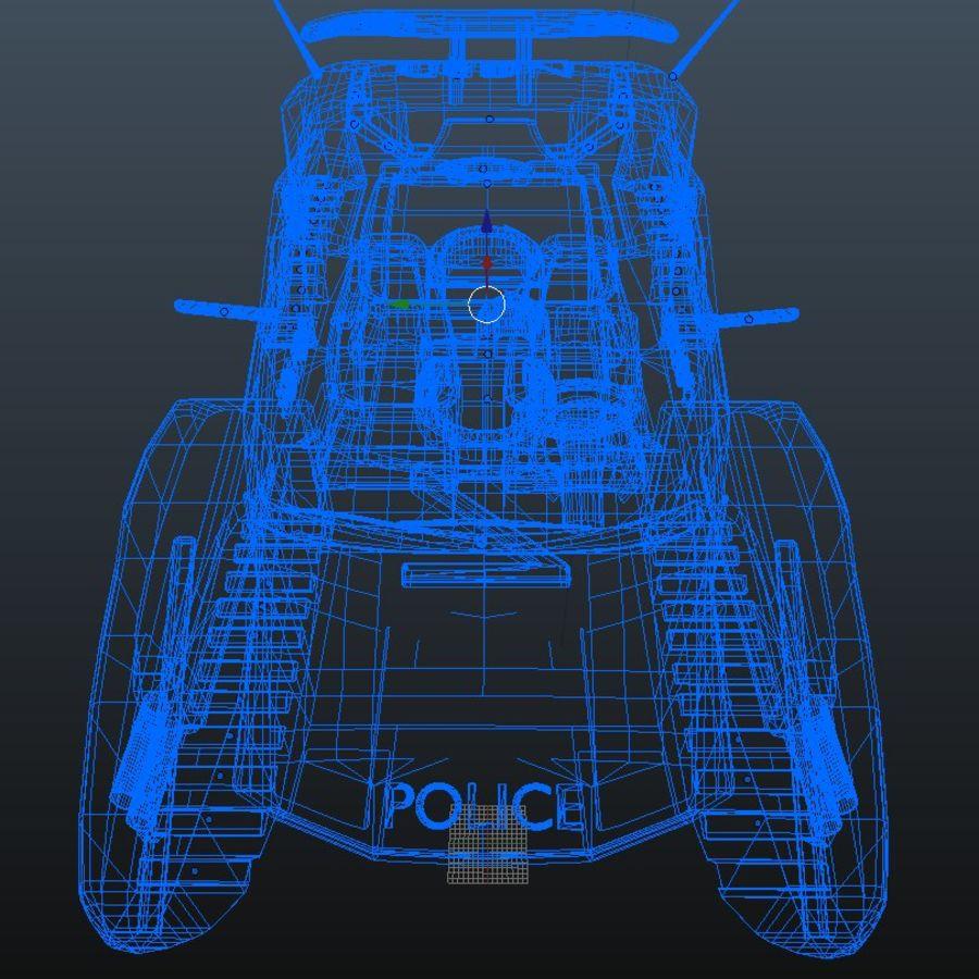 samochód policyjny royalty-free 3d model - Preview no. 12