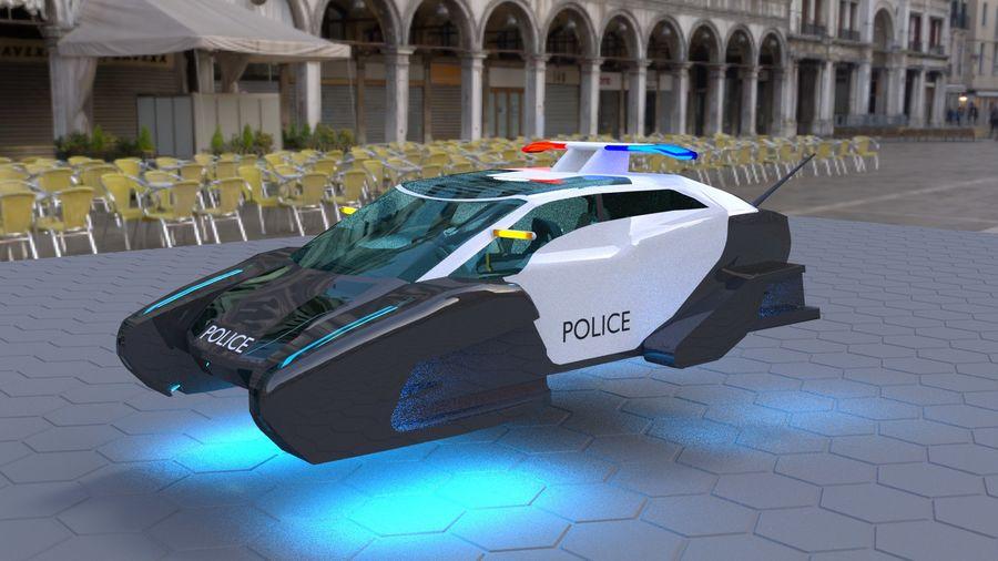samochód policyjny royalty-free 3d model - Preview no. 1