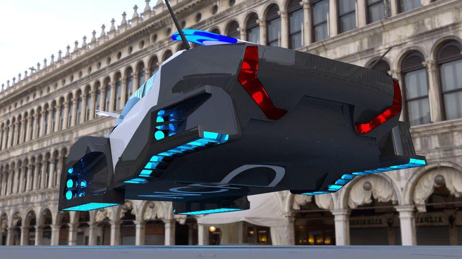 samochód policyjny royalty-free 3d model - Preview no. 5