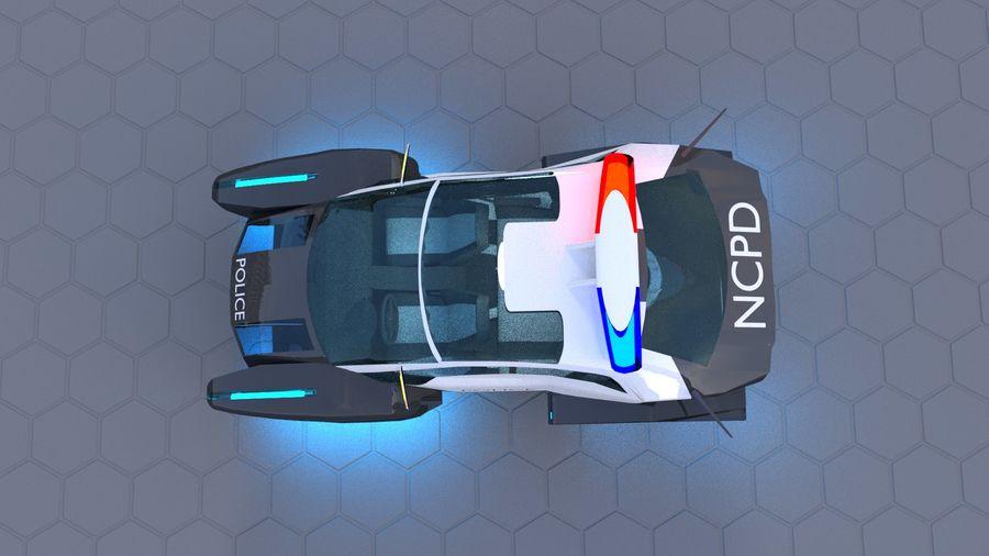 samochód policyjny royalty-free 3d model - Preview no. 3