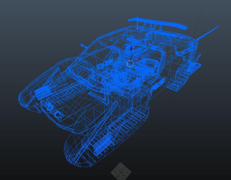 samochód policyjny royalty-free 3d model - Preview no. 10