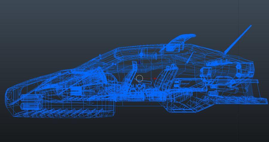 samochód policyjny royalty-free 3d model - Preview no. 11