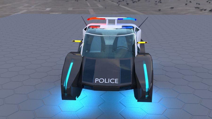 Police Hover Car 3d Model 15 Blend Unknown Obj Fbx 3ds Free3d