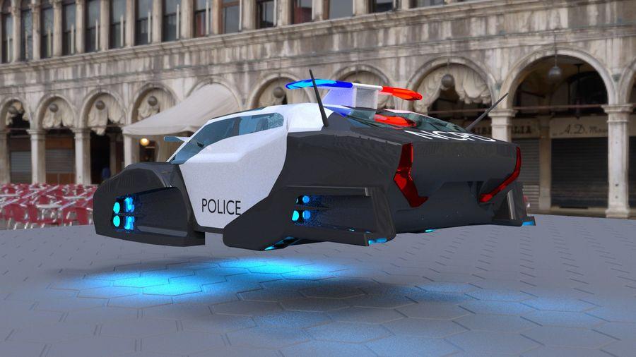 samochód policyjny royalty-free 3d model - Preview no. 4