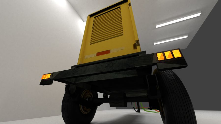 industrial generator royalty-free 3d model - Preview no. 9