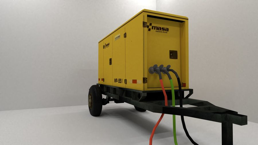 industrial generator royalty-free 3d model - Preview no. 2