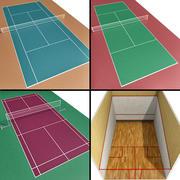 Terrain de tennis badminton squash 3d model