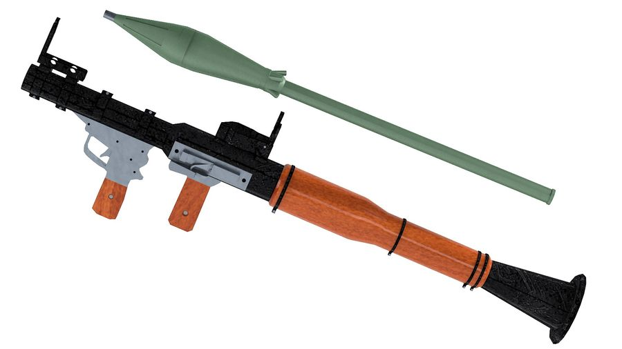 RPG-7 Rocket Launcher royalty-free 3d model - Preview no. 1