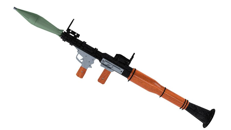 Lanciarazzi RPG-7 royalty-free 3d model - Preview no. 2