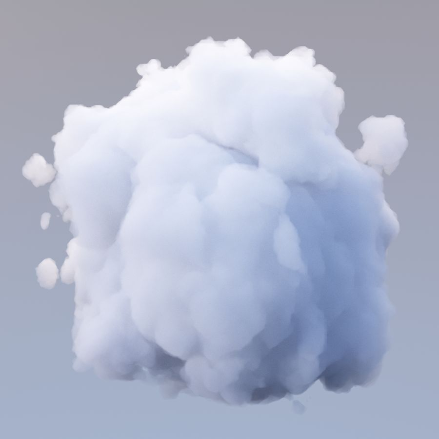 Polygon Cloud 15. royalty-free 3d model - Preview no. 2