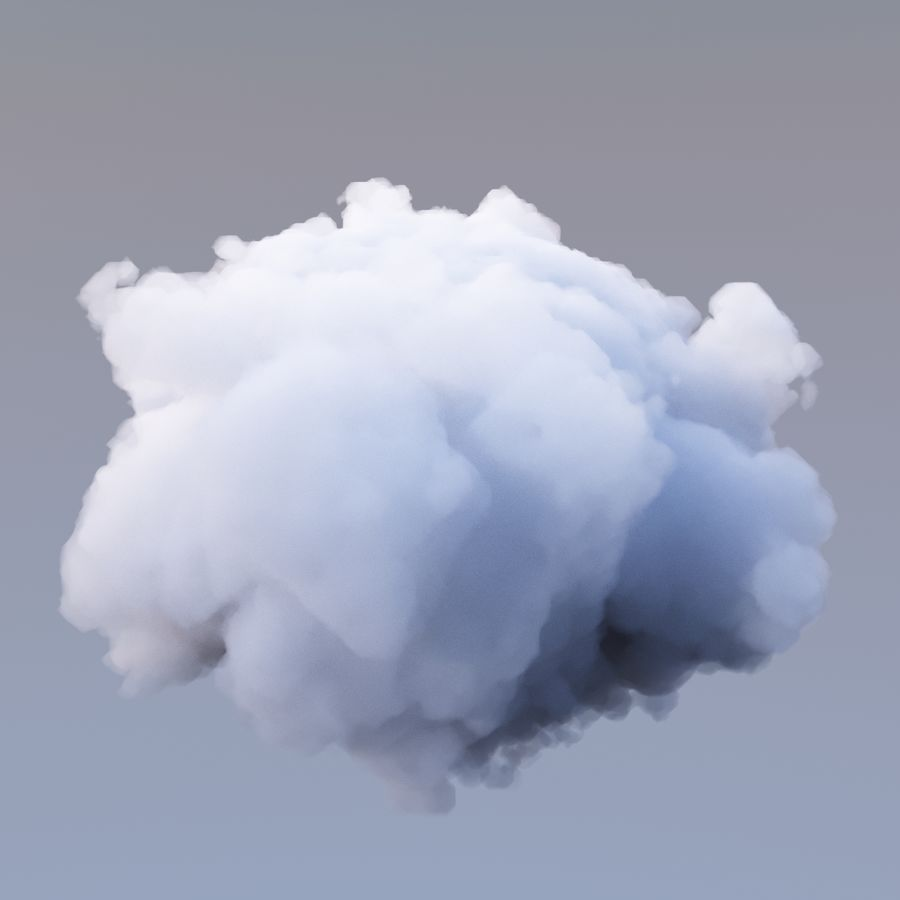 Nuage de polygone 16 royalty-free 3d model - Preview no. 4