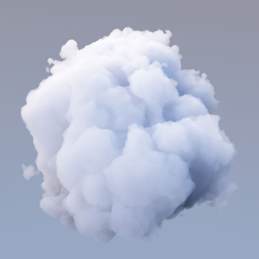 Nuage de polygone 16 royalty-free 3d model - Preview no. 2