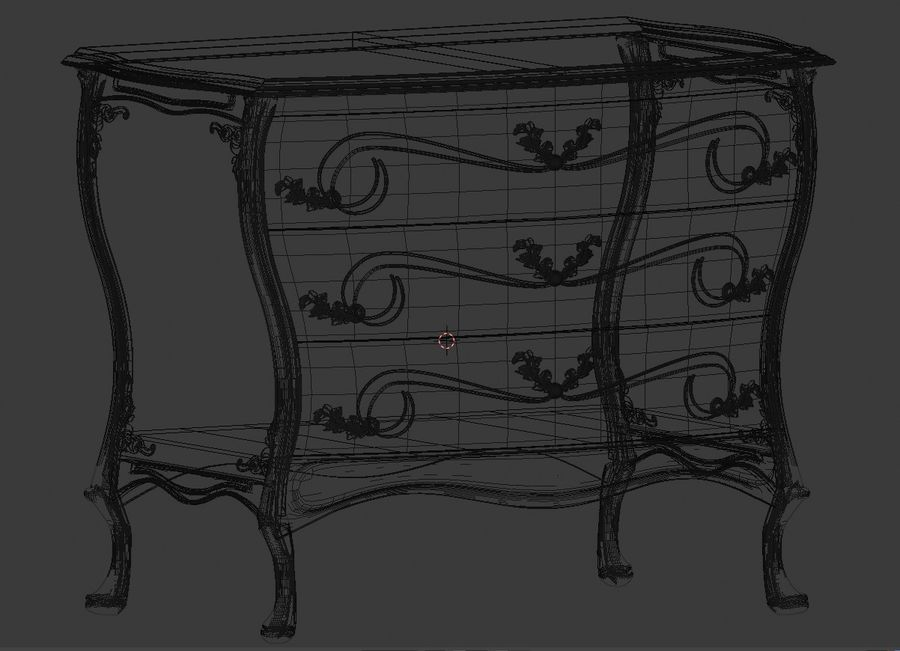 Ornamental Chiffonier 3d Model PBR royalty-free 3d model - Preview no. 6