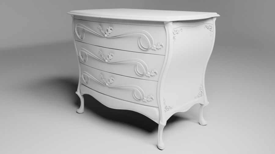 Ornamental Chiffonier 3d Model PBR royalty-free 3d model - Preview no. 5