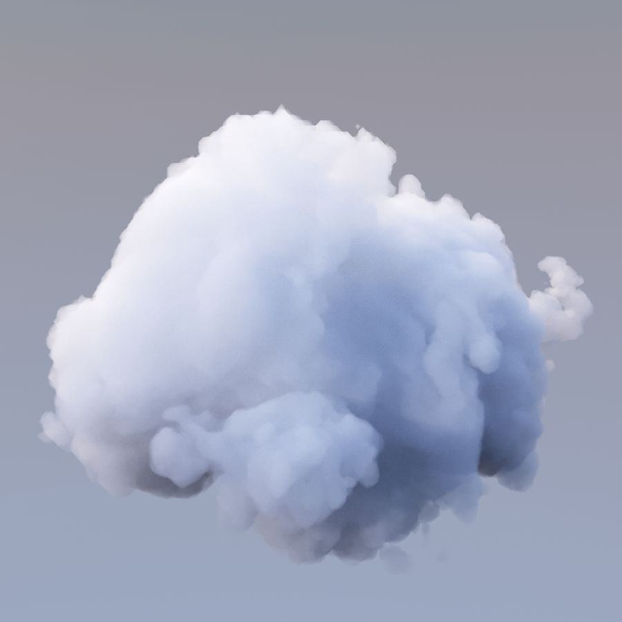 Polygon Cloud 17 royalty-free 3d model - Preview no. 4