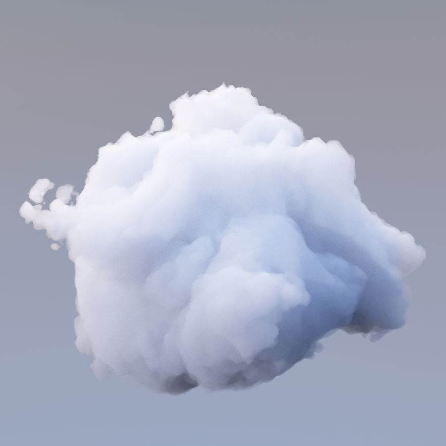 Polygon Cloud 17 royalty-free 3d model - Preview no. 2