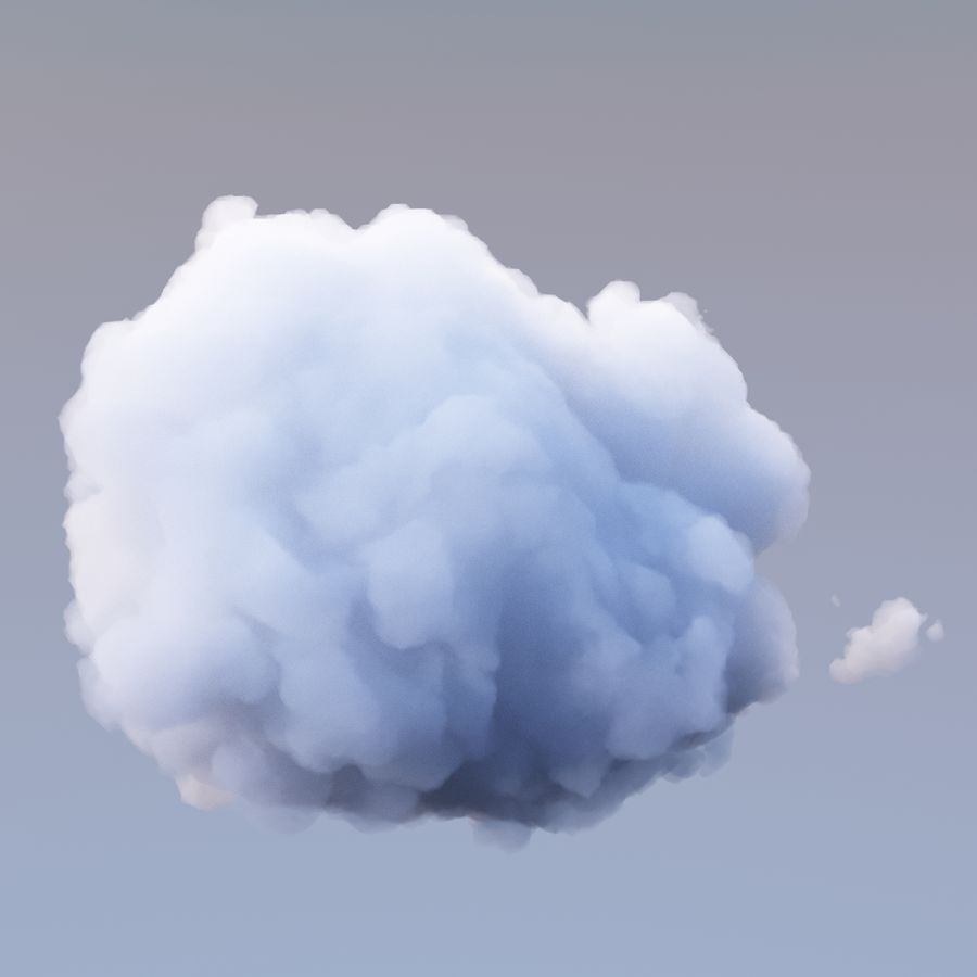 Polygon Cloud 18 royalty-free 3d model - Preview no. 4