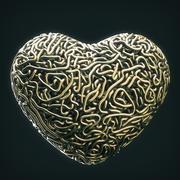 Linhas da lareira do amor 3d model