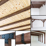 Wooden beams collection 3d model