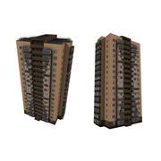 Tegelhus i flera våningar 3d model