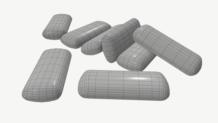 Chewing gum 04 royalty-free 3d model - Preview no. 7