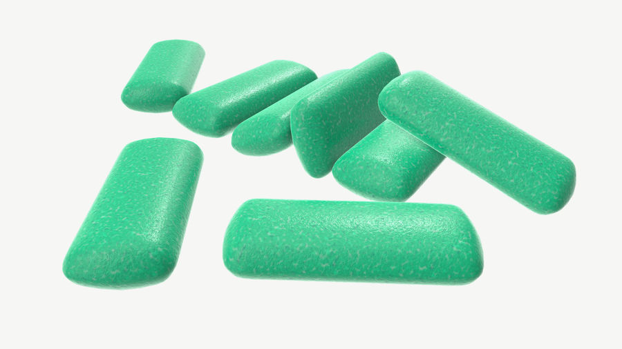Chewing gum 04 royalty-free 3d model - Preview no. 3