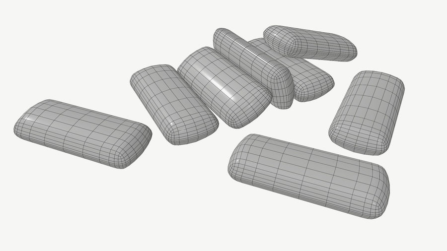 Chewing gum 04 royalty-free 3d model - Preview no. 5