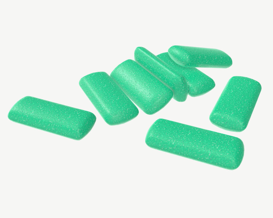 Chewing gum 04 royalty-free 3d model - Preview no. 1