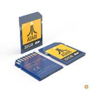 cartão SD 3d model