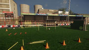 Pacchetto campo da calcio a basso numero di poligoni 3d model
