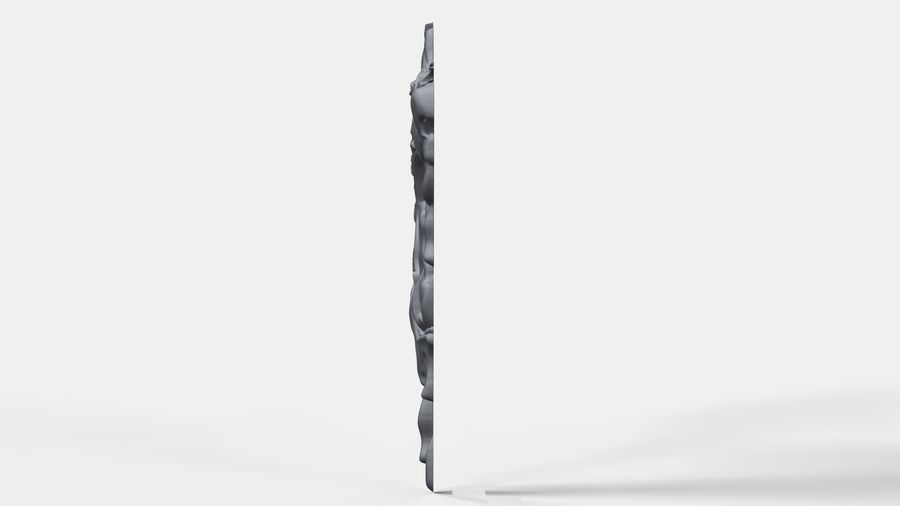 Çılgın köpek kafası bas Rölyef royalty-free 3d model - Preview no. 5