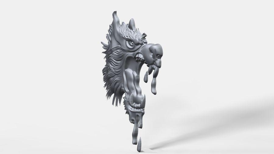 Çılgın köpek kafası bas Rölyef royalty-free 3d model - Preview no. 4
