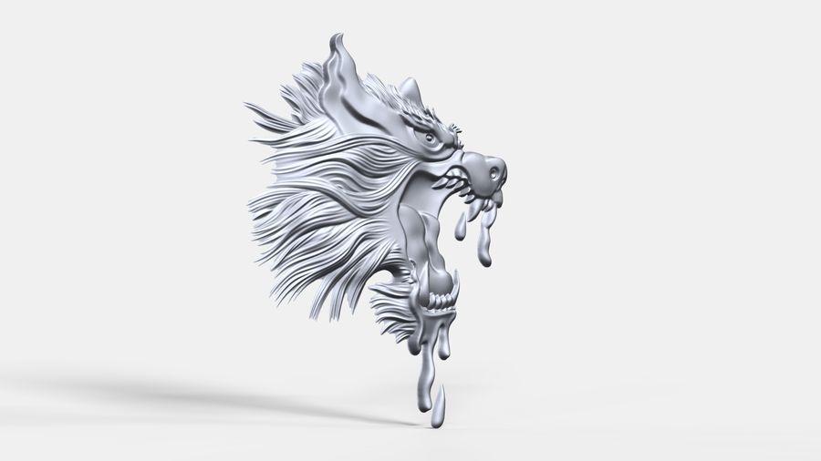 Çılgın köpek kafası bas Rölyef royalty-free 3d model - Preview no. 2