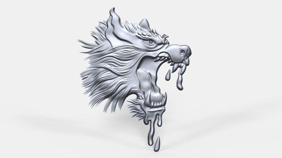 Çılgın köpek kafası bas Rölyef royalty-free 3d model - Preview no. 1