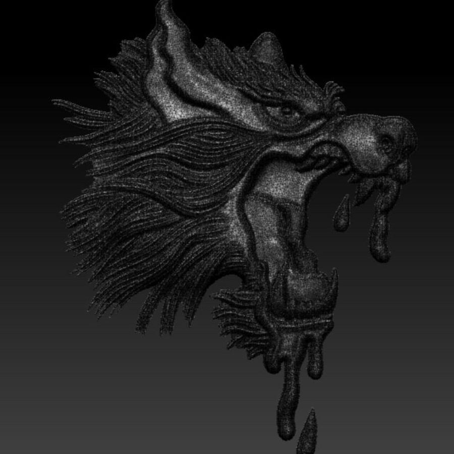 Çılgın köpek kafası bas Rölyef royalty-free 3d model - Preview no. 7