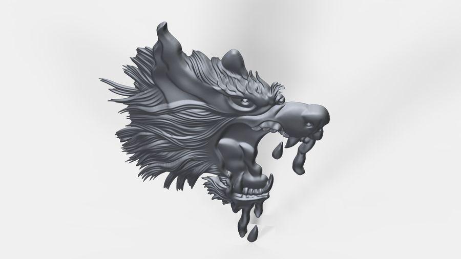 Çılgın köpek kafası bas Rölyef royalty-free 3d model - Preview no. 3
