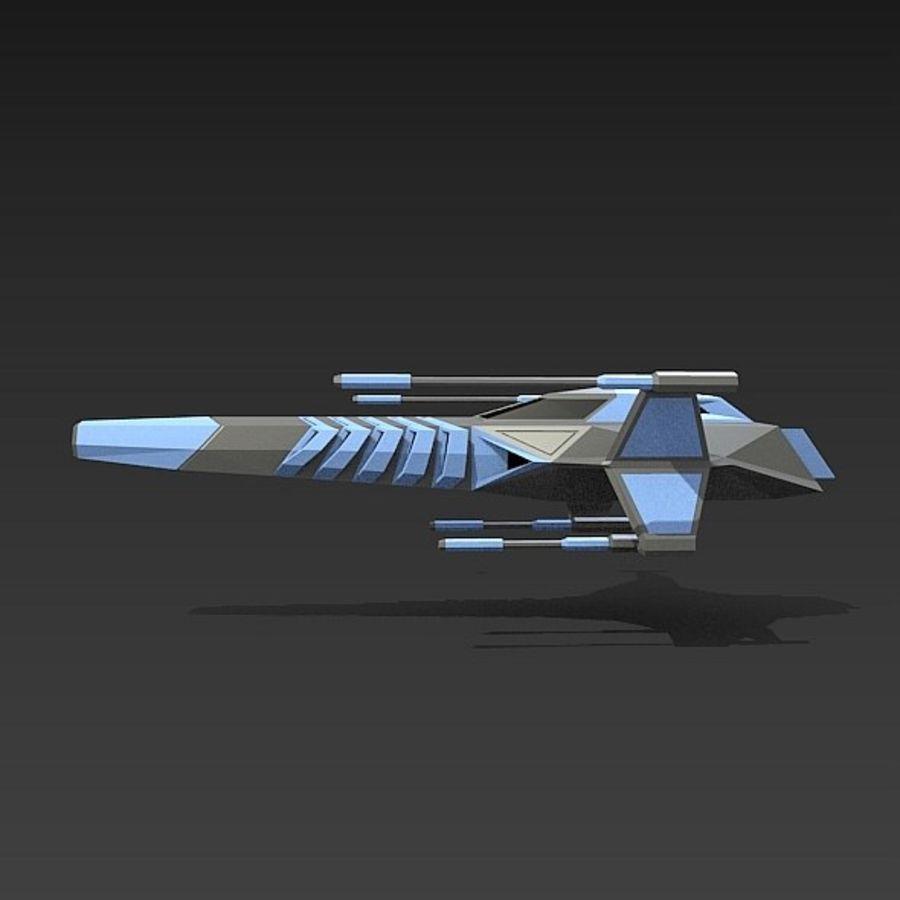 太空飞船概念疣猪 royalty-free 3d model - Preview no. 2