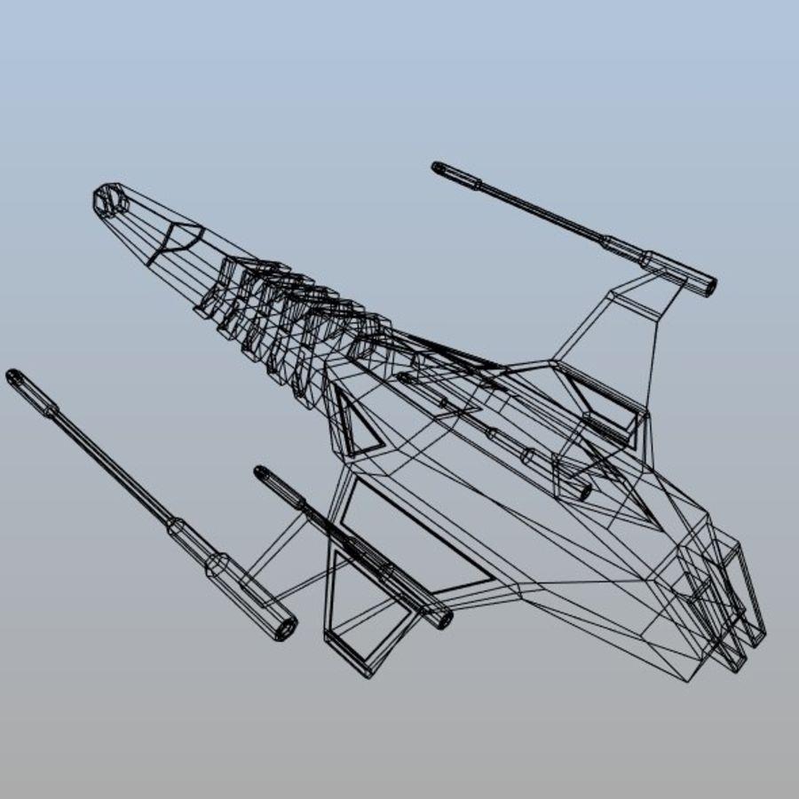 太空飞船概念疣猪 royalty-free 3d model - Preview no. 10