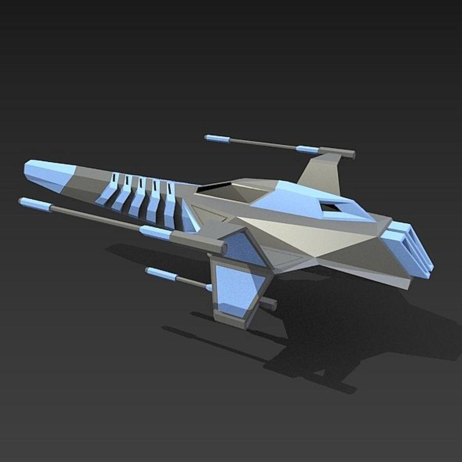 太空飞船概念疣猪 royalty-free 3d model - Preview no. 4