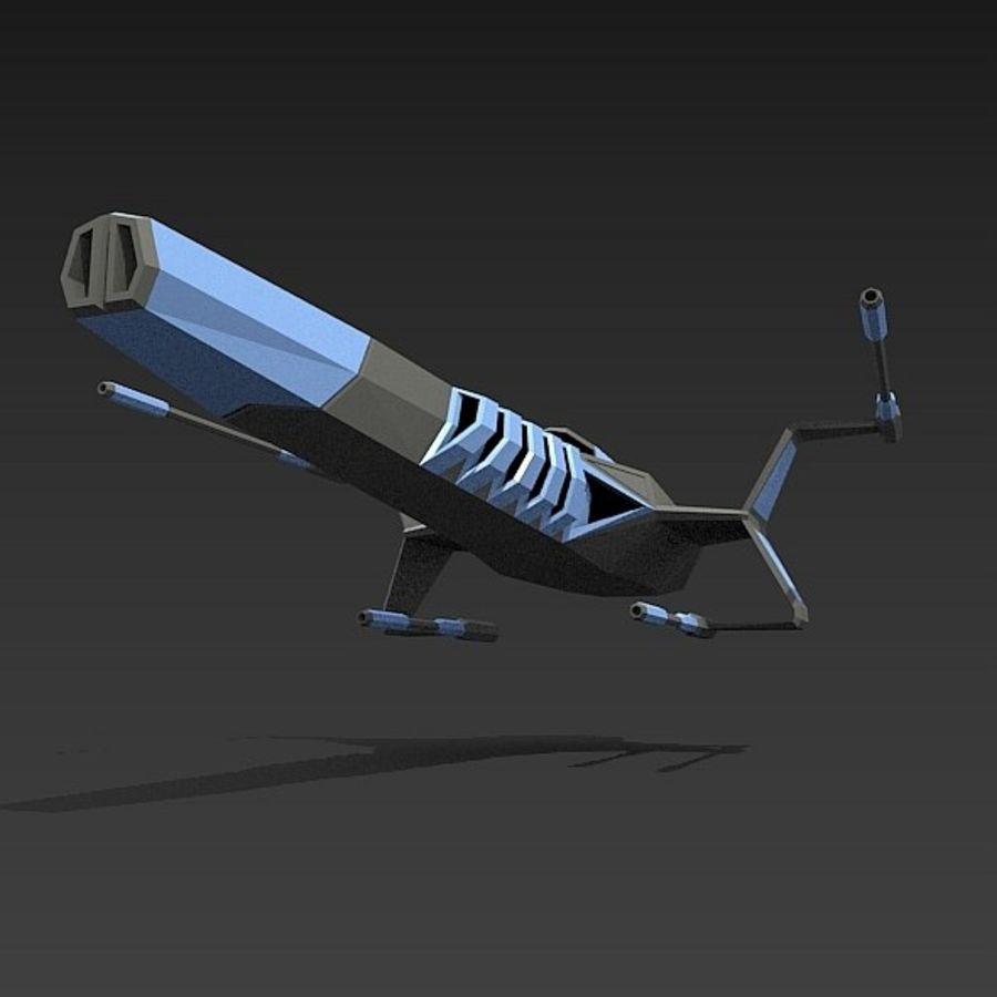 太空飞船概念疣猪 royalty-free 3d model - Preview no. 6