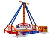 Parque de diversões Crazy Rider Vertical 3d model