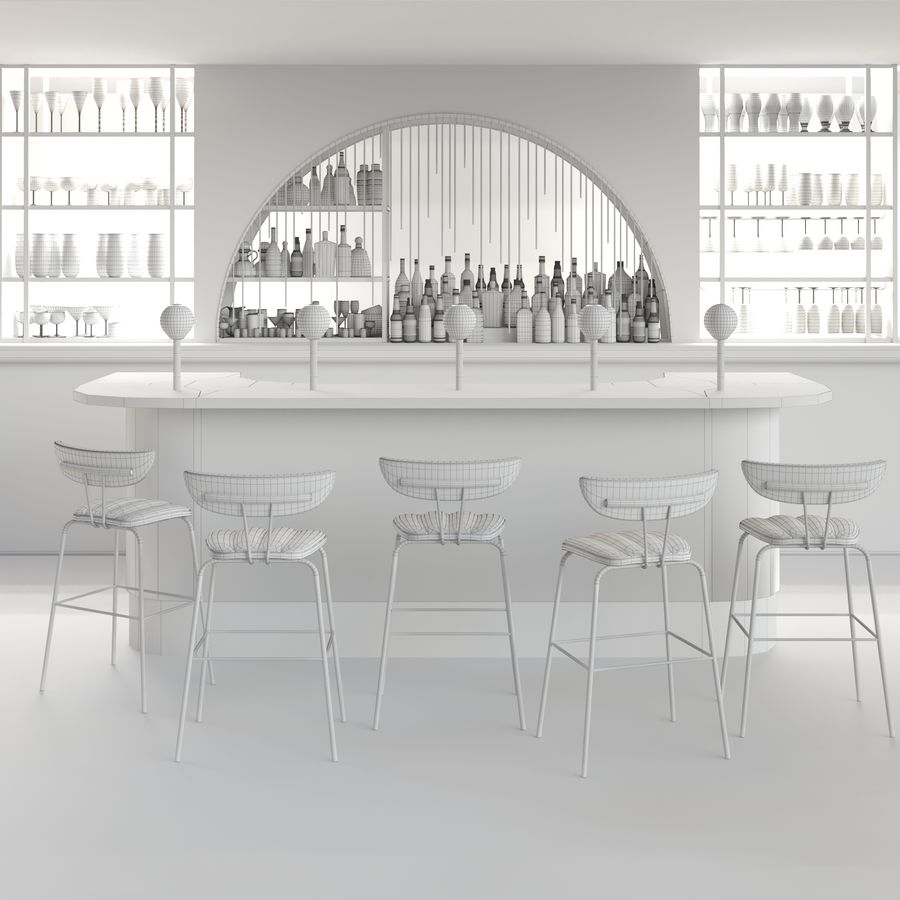 Bar Alkohol 23 royalty-free 3d model - Preview no. 2