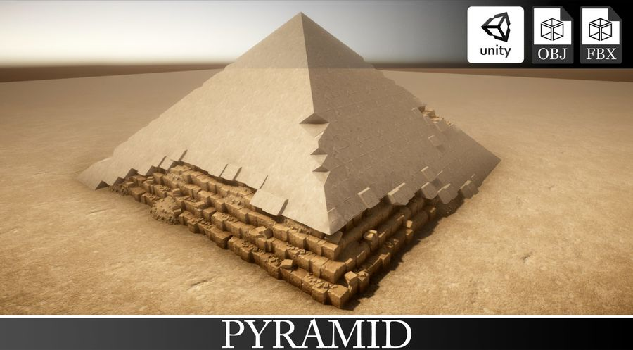 Pyramid royalty-free 3d model - Preview no. 1
