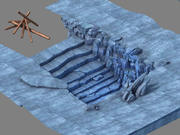 Icefield - Cave 01 3d model