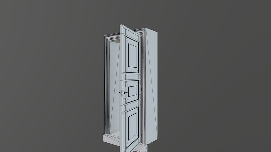Deur en kozijn 1 royalty-free 3d model - Preview no. 11