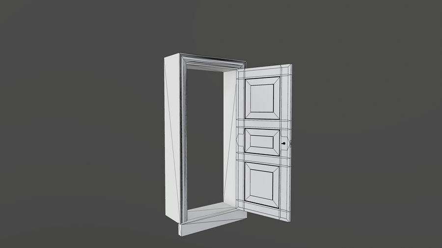Deur en kozijn 1 royalty-free 3d model - Preview no. 12